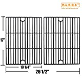 Bar.B.Q.S Cast Iron Cooking Grid Replacement for Kenmore, Grill Master 720-0697 720-0737, Nexgrill 720-0830, Kmart 640-26629611-0 Grill Models, Set of 2