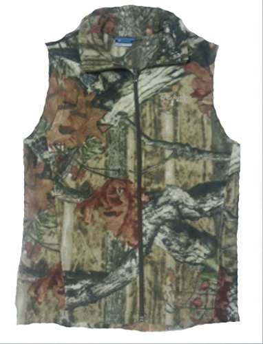 Columbia Mens PHG Camo Fleece Vest, Mossy Oak Breakup Infinity, Medium (Camouflage Vest)