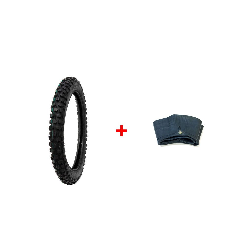 MMG Combo Inner Tube Size 2.50-14 TR4 Valve Stem Off Road Knobby TIRE Size 2.50-14