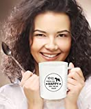 Wire Fox Terrier Dog Makes Me Happy - You Not So Much - Funny Coffee Mug - 11 oz Novelty Tea Cup - Ceramic