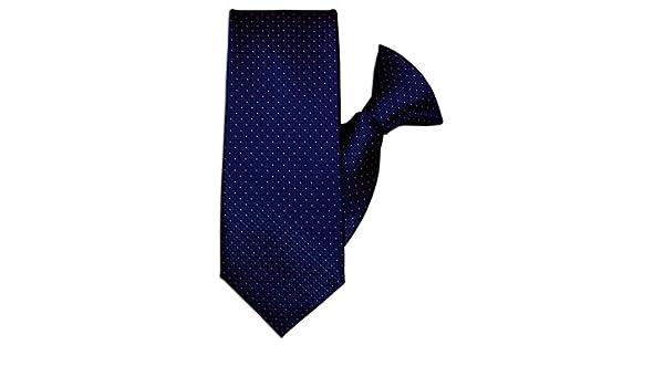 John Henry JH-1070 - Corbata de clip, diseño cuadrado, color azul ...