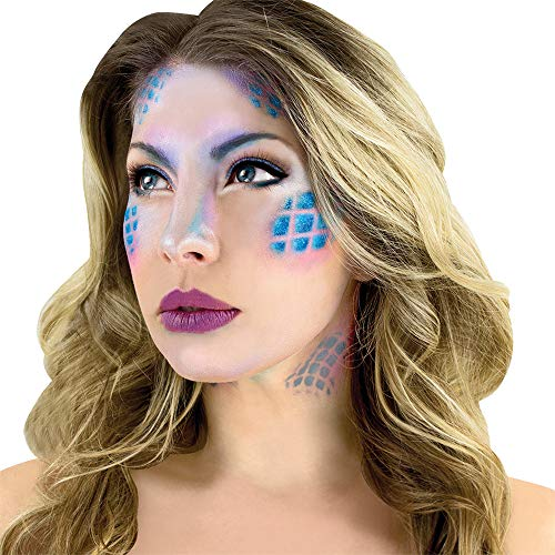 Woochie Water Activated Makeup Kit - Professional Quality Halloween and Costume Makeup - Mermaid -
