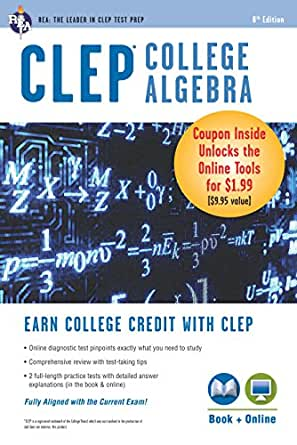 CLEP® College Alge Book + Online (CLEP Test Preparation) on