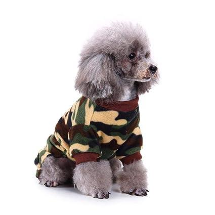 Molre-yan Ropa para Mascotas Pijamas Ropa para Perros Ropa para el hogar Peluche Pijamas
