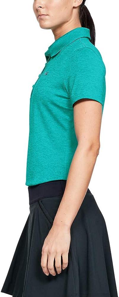 Under Armour Women's Zinger Short Sleeve Polo Short Sleeves Polo Breathtaking Blue / Breathtaking Blue / Downpour Gray (400)