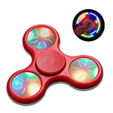 Tri-Spinner Fidget Toy Tri-Spinner Fidget Toy Fidget Spinner High Speed Lasting Rotation For Relieves Stress And Anxiety Puzzle Toy Playing In Hands (red flash switch))