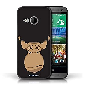 KOBALT? Protective Hard Back Phone Case / Cover for HTC One/1 Mini 2 | Gorilla/Chimp/Monkey Design | Animal Faces Collection