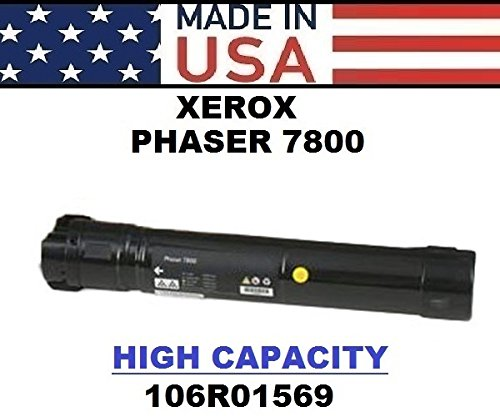 ALL CITY USA REMANUFACTURED Toner Cartridge Replacement for XEROX Phaser 7800 (Black)