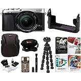 Fujifilm X-E3 Mirrorless Digital Camera w/XF18-55mm f/2.8-4 R LM OIS Lens (Silver) w/BLC Leather Case & Editing Software Bundle