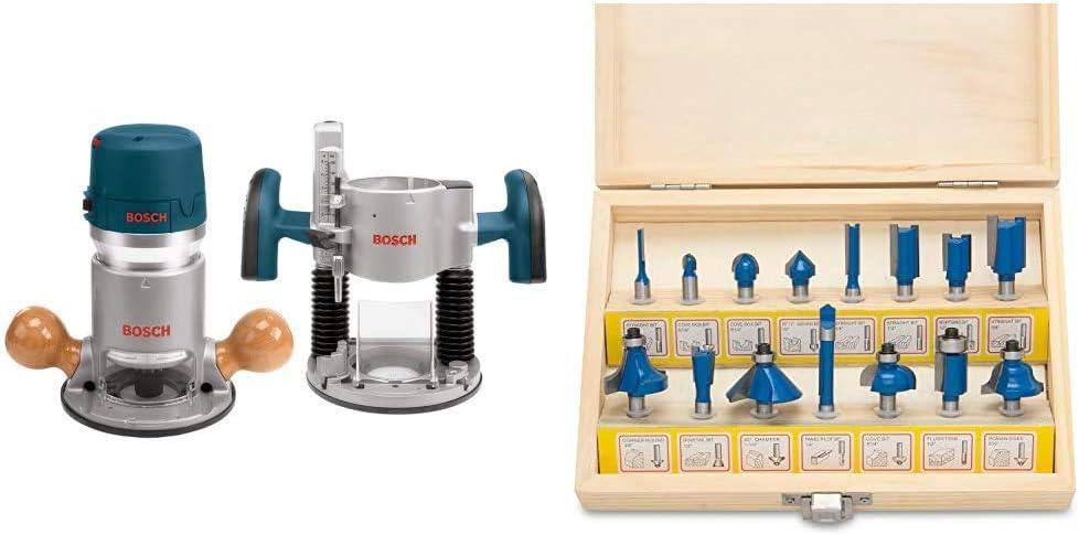 Bosch 1617EVSPK Wood Router Tool Combo High order 2.25 Kit Plu Horsepower Popular -