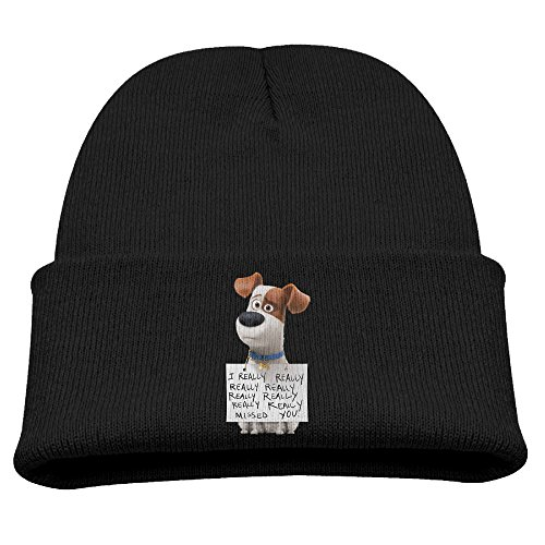 TINGHAO The Secret Life Of Pets Max Winter Knit Cap Beanie Cap For Kids Black]()
