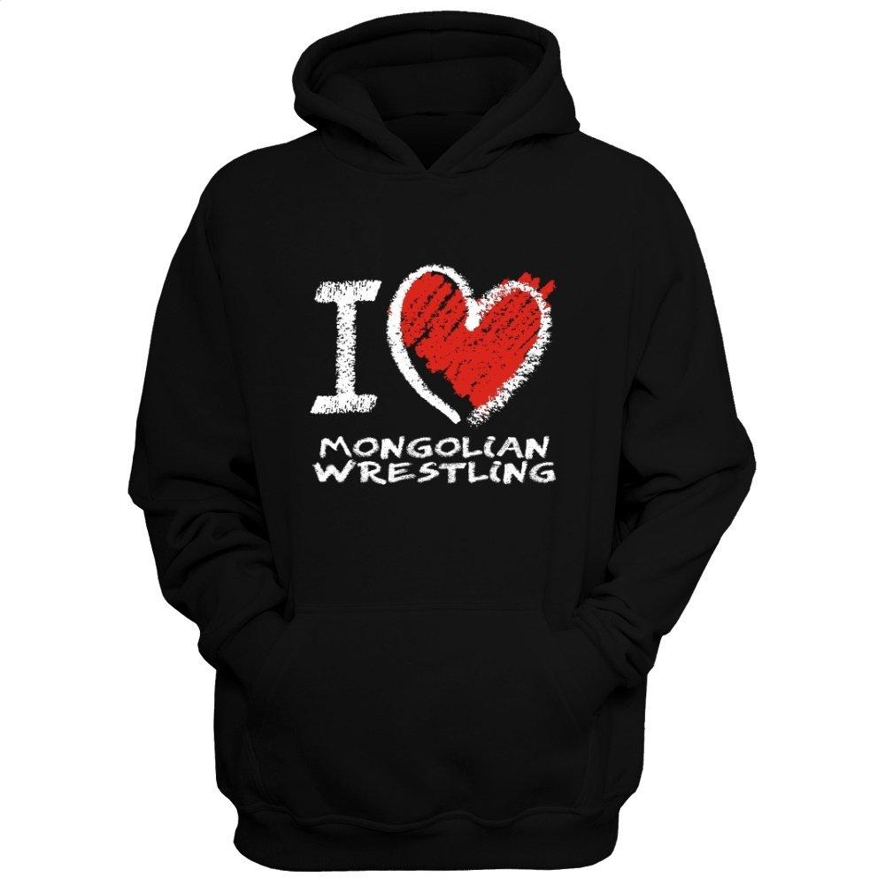 Idakoos Love Mongolian Wrestling chalk Style - Sports - Hoodie by Idakoos