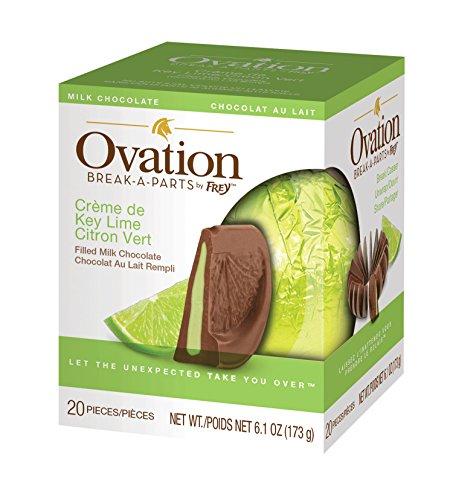 Ovation Chocolate Break-A-Parts by Frey- 6.17 oz. (2-Pack) (Ovation Milk Chocolate Creme de Key Lime)