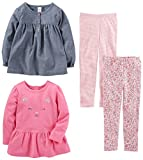 Kyпить Simple Joys by Carter's Toddler Girls 4-Piece Playwear Set, Chambray, 3T на Amazon.com