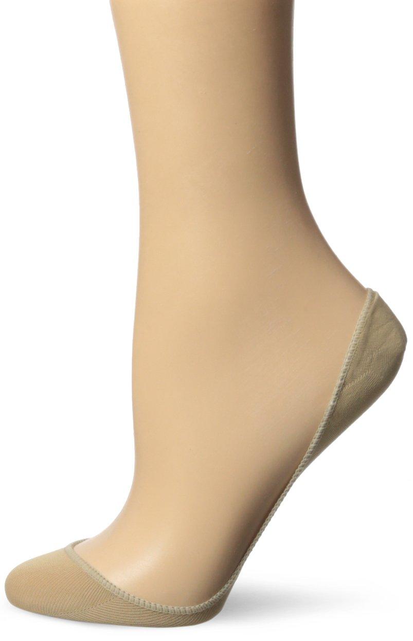 No Nonsense Women's Microfiber Low Cut Ballerina Liner, Nude, 9-12