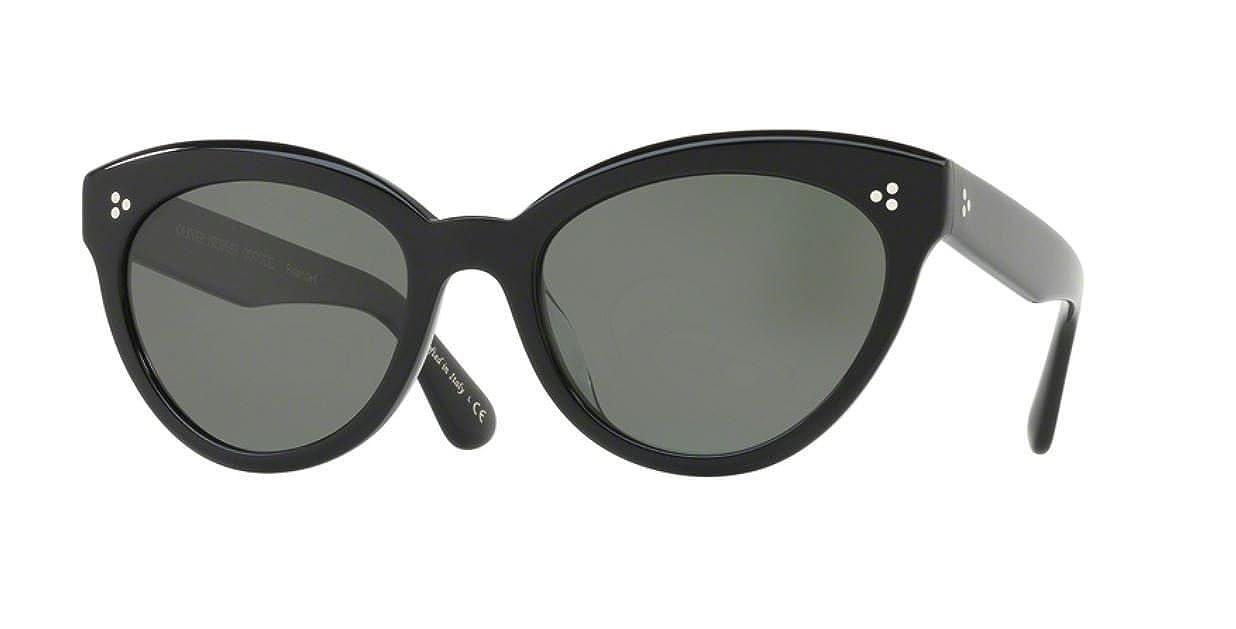 e906c40b60 Authentic Oliver Peoples OV 5355 SU ROELLA 10059A BLACK Sunglasses   Amazon.co.uk  Clothing