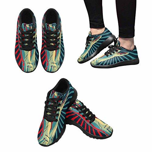 Interestprint Mujeres Jogging Running Sneaker Ligero Go Easy Walking Casual Confort Zapatillas Rock N Roll Multi 1