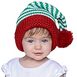 Huggalugs Boys or Girls Peppermint Twist Christmas Stocking Hat M (6-24m)