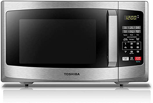 Toshiba EM925A5A-SS Microwave Oven with Sound On/Off ECO Mode and LED Lighting, 0.9 cu. ft, Stainless Steel