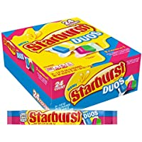 24-Count Starburst Duos Full Size Fruit Chews Candy, 2.07-Ounce