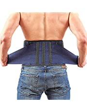 """Back Support Lower Back Brace provides Back Pain Relief - Breathable Lumbar Support Belt for Men and Women keeps your Spine Straight and Safe - Large size 38''- 45"""" Belly Waist Line"""