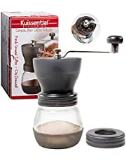 Coffee Burr Grinder- The Original EvenGrind Manual Ceramic Burr Grinder with Patented Stability Cage- Even Coffee Grounds Guaranteed! by Kuissential