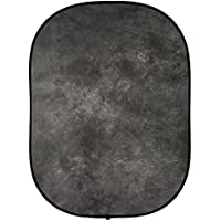 Fovitec  StudioPRO - 5 x 6.5 Gray Double-Sided Pop-Out Muslin Backdrop - [Collapsible Background][Matte Finish][Carrying Case Included]