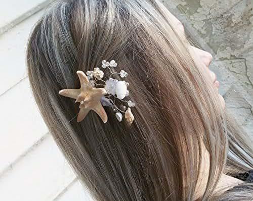 Amazon.com: Starfish Hair Pin, Beach Bridal and bridesmaid