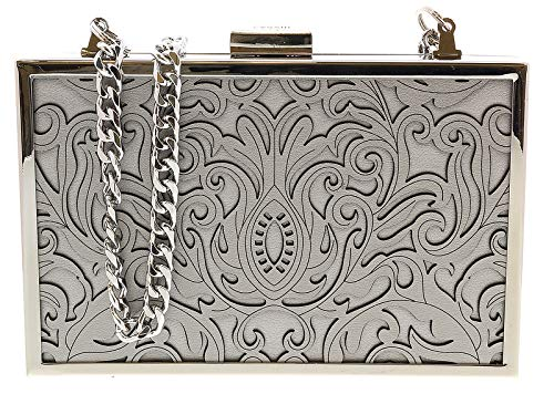 001 Box Cavalli Womens for HXLPD1 Clutch Grey Roberto EqZ1z