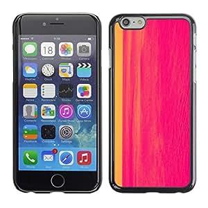 FlareStar Colour Printing Painting Abstract Hot Pink Line Watercolor cáscara Funda Case Caso de plástico para Apple (4.7 inches!!!) iPhone 6