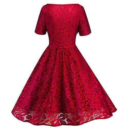Vectry Rebajas Vestidos De Fiesta Vestidos Liso Vestidos Elegante Vestidos Casual Vestidos para Boda Vestidos con Manga Corta Vestidos con Cuello Redondo ...