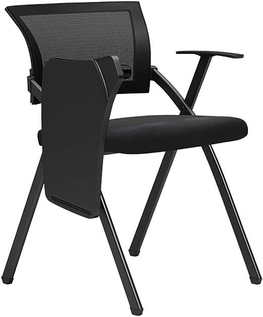 ZHEDYI Silla Plegable de Oficina, sillas apilables portátiles de ...