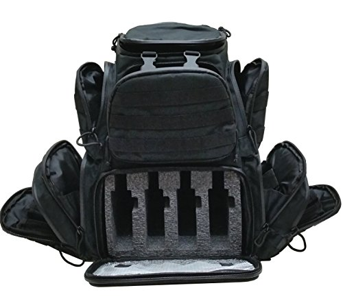 Review Case Club Tactical 4-Pistol Backpack with Rainfly & Molle Straps, (GEN 2)