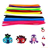 100pcs Colors Montessori Materials Chenille Puzzles Toy Craft Pipe Cleaner Colorful Math Educational Sticks Creative Puzzle