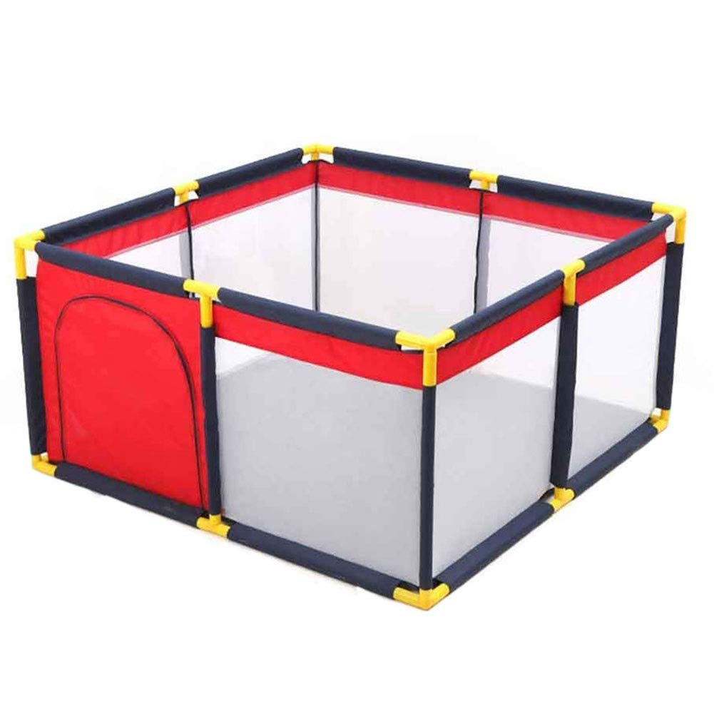 MUMA Play Yard Playpen Extra Large Safety Kids, Rectangular Baby Room Divider Play Pen, Anti-Collision Play Game Fence for Nursery (Size : 130130cm) by MUMA