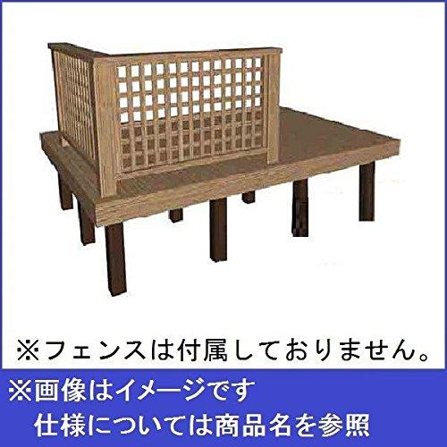 タカショー タンモクアッシュ デッキセット(根太束柱アルミ仕様) 1.5間×10尺 無塗装 B01MRCKMLD