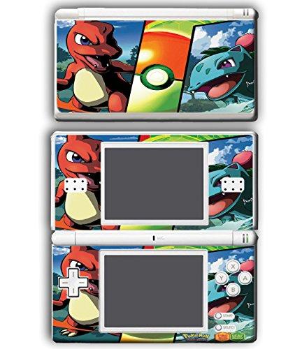 Pokemon Go Pikachu Starter Charmander Bulbasaur Cartoon Video Game Vinyl Decal Skin Sticker Cover for Nintendo DS Lite System