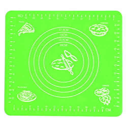 Pulison Extra Large Silicone Baking Mat Non-Stick Pastry Mat Board Table Placemat Pad for Baking,Rolling Dough with Measurements, Reusable Heat-Resistant -