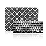 TopCase 2 in 1 - Quatrefoil / Moroccan Trellis Rubberized Hard Case Cover and Keyboard Cover for Apple MacBook Pro 13.3