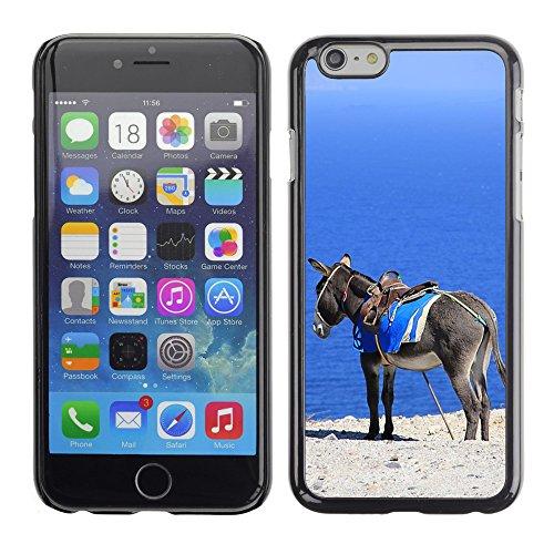 "Hard plastica indietro Case Custodie Cover pelle protettiva Per // M00421554 Âne mer Grèce Santorini vacances // Apple iPhone 6 6S 6G PLUS 5.5"""