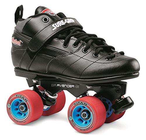 Sure-Grip Rebel Avenger Skate Package - black sz Mens 12