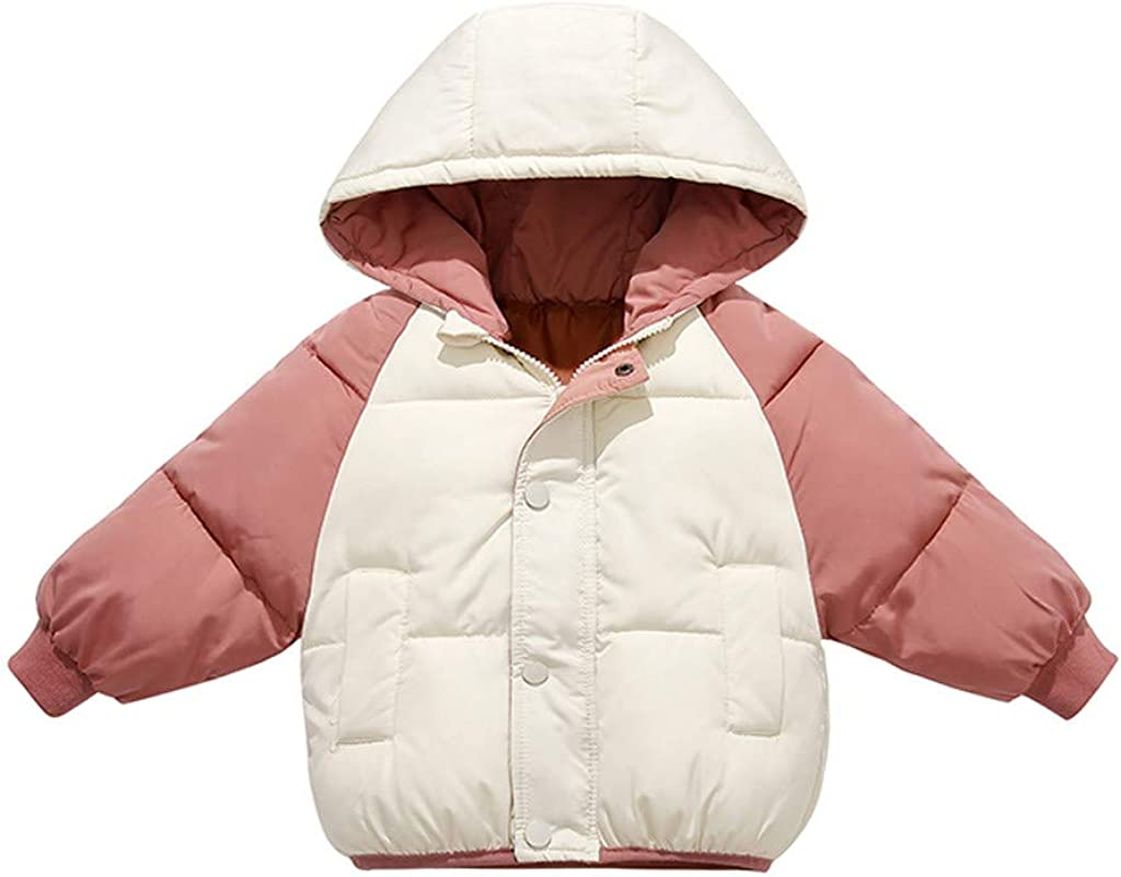 Children Lightweight Quilted Hooded Jacket for Boys and Girls Outwear Windproof Coats