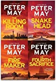 img - for Peter May Collection, China Thrillers 4 Books Set (Firemaker, Fourth Sacrifice, Killing Room, Snakehead) book / textbook / text book