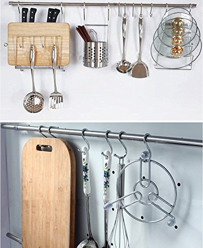 Tsuen 20 Pack S Shaped Hooks Hangers, Heavy Duty Metal Hanging Hooks Hangers Clothes Storage Rack for Kitchen, Bathroom, Bedroom, Work Shop, Garden and Office, 3.3 inches by Tsuen (Image #6)