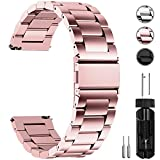 Fullmosa Watch Band, Stainless Steel Quick Release Watch Strap 16mm, 18mm, 20mm, 22mm or 24mm, 22mm Rose Gold