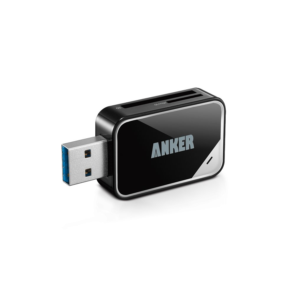 Anker 8-in-1 USB 3.0 Portable Card Reader for SDXC, SDHC, SD, MMC, RS-MMC, Micro SDXC, Micro SD, Micro SDHC Card and UHS-I Cards