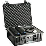 PELICAN 1550-004-110 Case with Padded Divider (Model 1550; Dim: 18.43ininL x 14ininW x 7.62ininH)