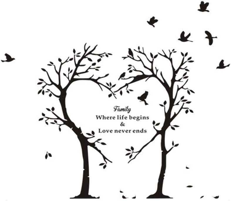 PEGATINAS DE PARED Tatuajes Pared Árbol Amor Pájaros Citas ...