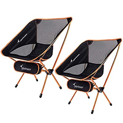 Sportneer Camping Chairs, Portable Ultralight Folding Camp Chair with Carry Bag, Heavy Duty 350lbs Capacity for Outdoor Camping, Backpacking, Hiking, Picnic, BBQ