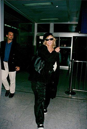 Vintage photo of Farrah Fawcett arrives at Nice